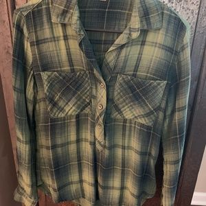 Cloth & Stone XS Pullover Plaid Top